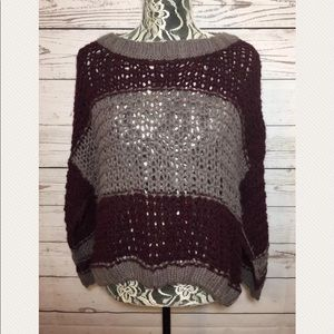 Free People crochet oversize wool Alpaca Sweater S